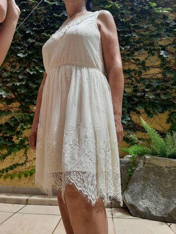 Vestido marfim de renda  - Foto 6