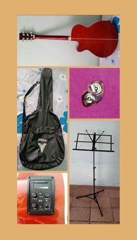 Violão eletroacústico (marca: Giannini) + capa, estante de partitura e palheta - Foto 2