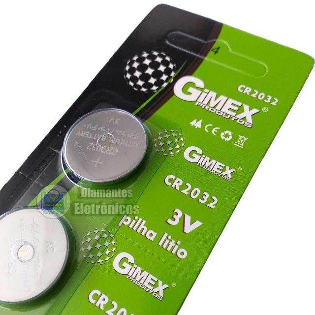 Cartela Pilha Gimex CR2032 Litio 5 unidades - Foto 2