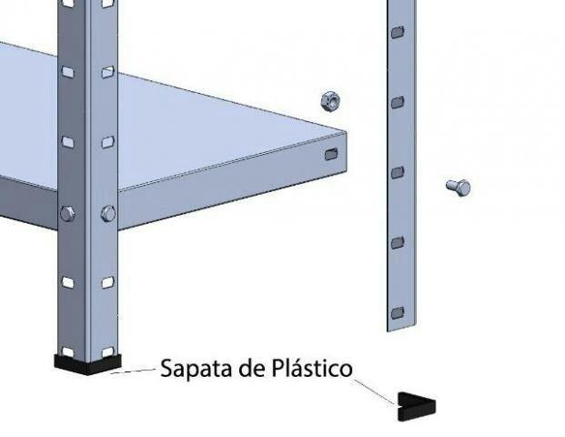 Prateleira de aço (nova c/06 bandejas) - Foto 4
