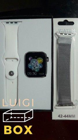 Relógio inteligente - Smartwatch x7- Prata  - Foto 3