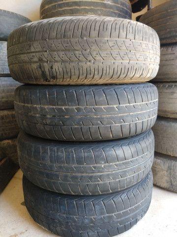 Jogo de rodas 14 de ferro semi novas originais do fiat pálio - Foto 12