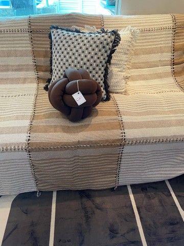 Kit manta + 3 almofadas com entrega grátis  - Foto 5