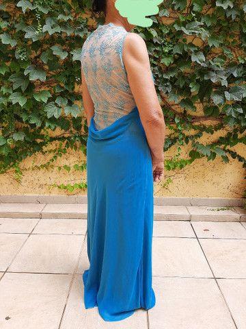 Vestido social azul - Foto 5