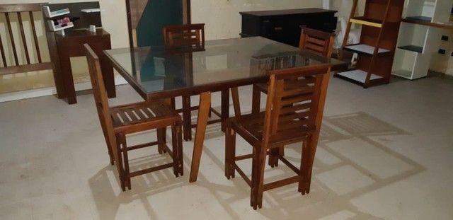 Vendo Mesa com 4 Cadeiras - Frete Grátis  - Foto 3