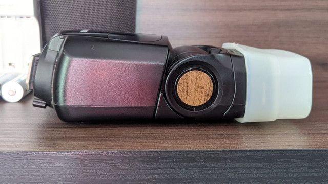 Flash EX 320 Canon com pilhas Sony recarregável  - Foto 4