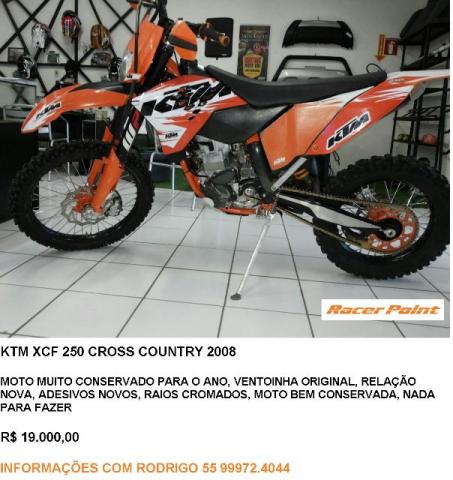 Ktm XCF 250 Cross country 2008
