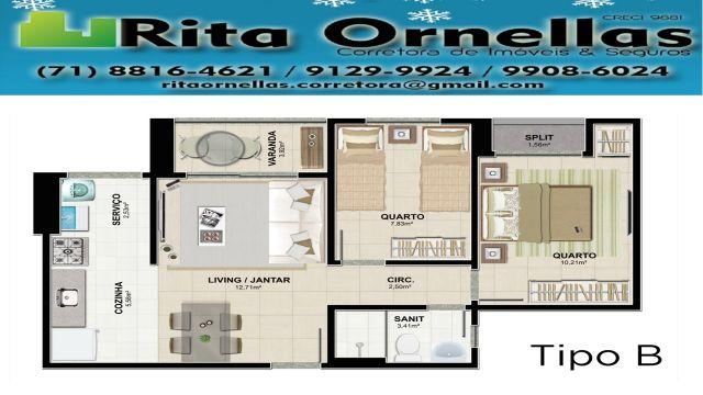 Apartamento Residencial Vivace - Cabula VI