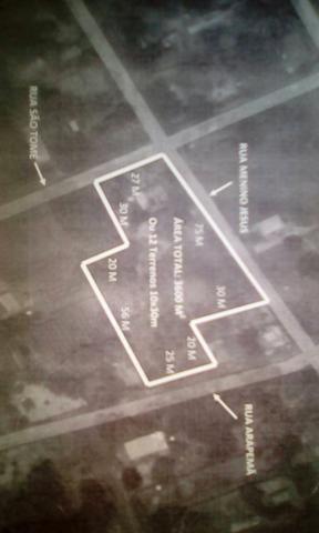 Terreno com 3600 M² ou 12 terenos de 10×30