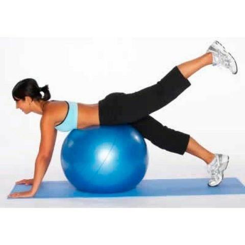 f0da4603bf Bola Suiça p  Pilates 55cm   Azul Premium - Roxa- Ref. Ls3222 55 Pr - Liveup