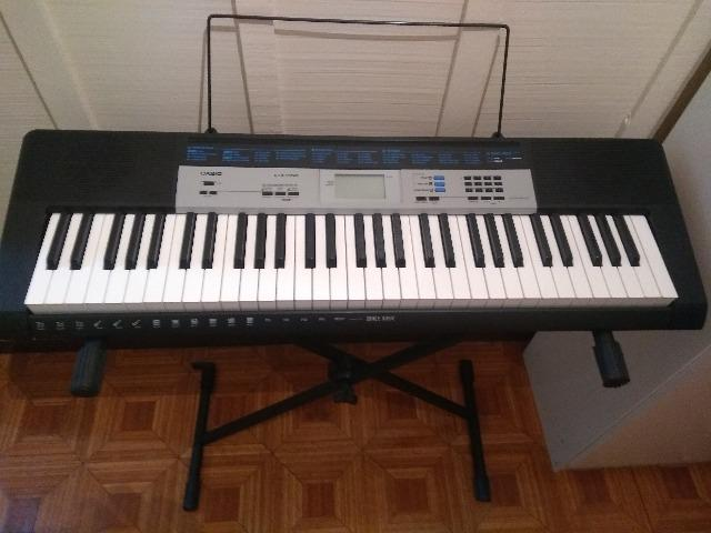 Teclado musical digital casio ctk-1550 Completo!