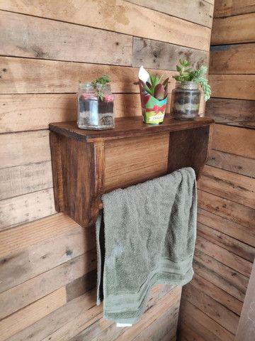 Porta toalha rústica - Foto 5