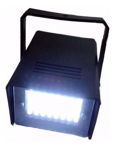 Mini Strobo Flash Projetor De Luz Branco Festa Iluminação Balada