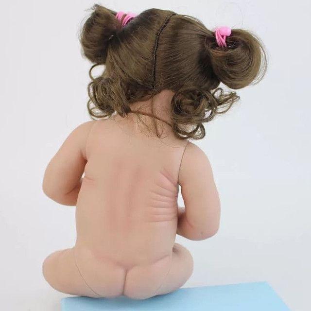Boneca bebê Reborn Menina toda de Silicone a pronta entrega - Foto 2