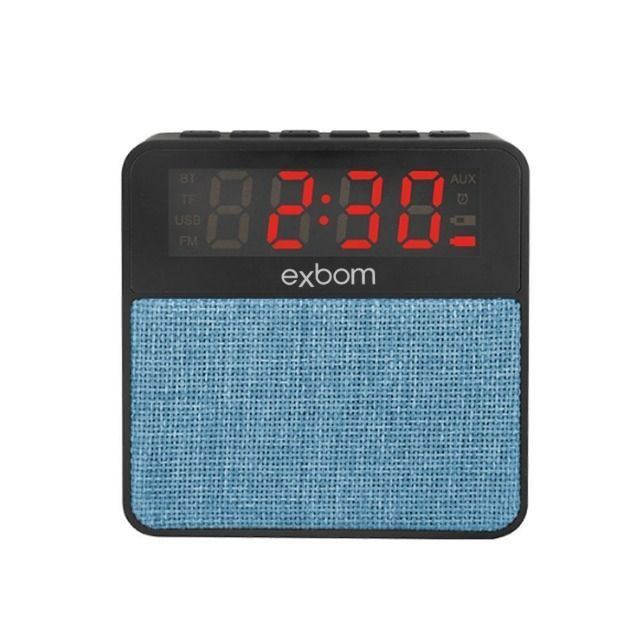 R$79,90 Radio Relógio Digital Bluetooth Usb Sd Mp3 Fm Despertador - Foto 3