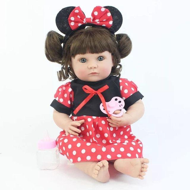 Boneca bebê Reborn Menina toda de Silicone a pronta entrega - Foto 5
