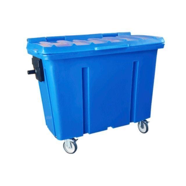 Container de Lixo 500 Litros com Rodas sem Pedal - Novo