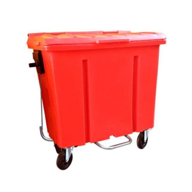 Container de Lixo Cap 1000 Litros Com Pedal e Rodas - Novo - Foto 2