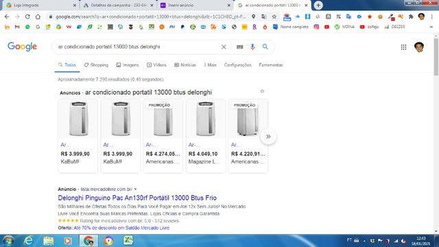 Ar condicionado portátil 13000btus -127V - Foto 2