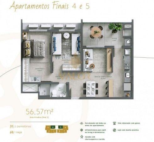 Apartamento 2 dormitórios no maior Home Club de Itajaí - Foto 3