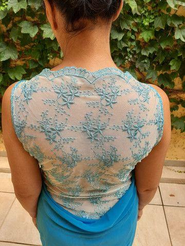Vestido social azul - Foto 4