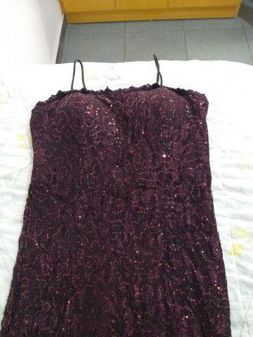 Vestido festa longo roxo/vinho/berinjela - Foto 4