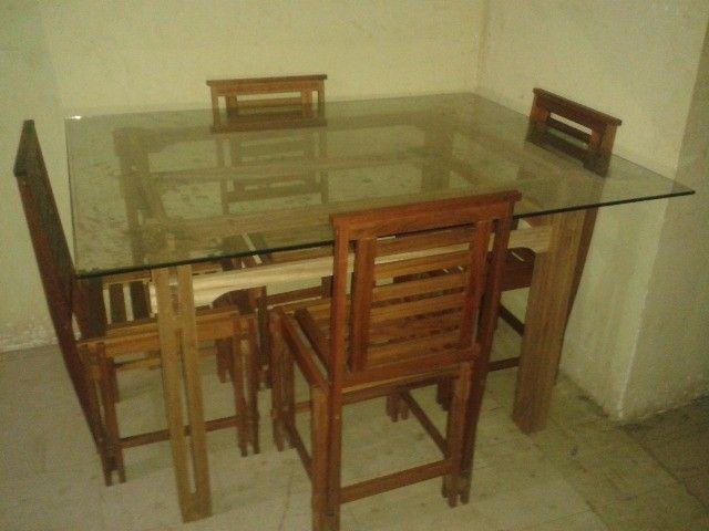 Vendo Mesa com 4 Cadeiras - Frete Grátis  - Foto 4