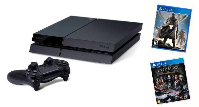 Playstation 4 - Ps4 - 500gb + 2 Jogos(destiny E Injustice)