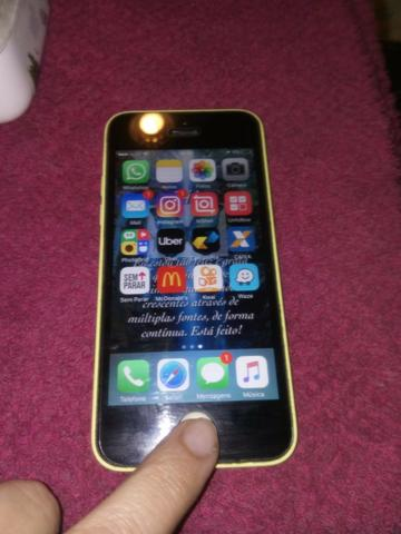 Iphone 5c 8g amarelo novíssimo sem risco algum - Foto 5