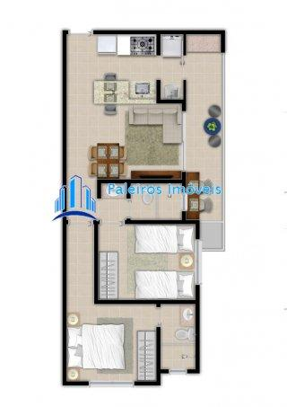 Lançamento apartamento 2 dormitórios sendo 1suíte Ribeirania - Apartamento em La... - Foto 17