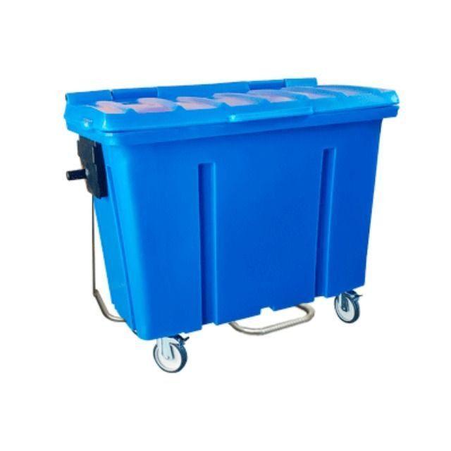 Container de Lixo Cap 1000 Litros Com Pedal e Rodas - Novo - Foto 3