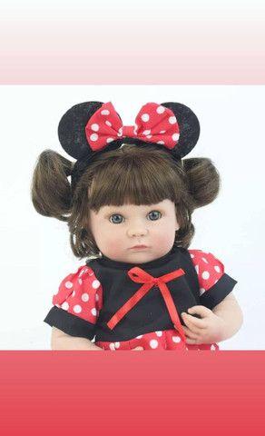 Boneca bebê Reborn Menina toda de Silicone a pronta entrega - Foto 3