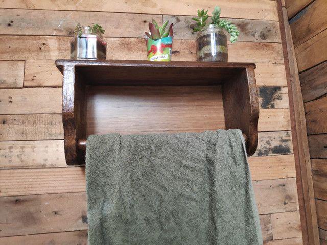 Porta toalha rústica