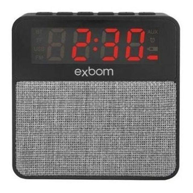 R$79,90 Radio Relógio Digital Bluetooth Usb Sd Mp3 Fm Despertador - Foto 5