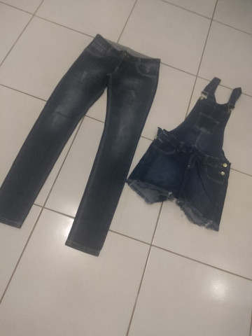 Calça e jardineira jeans - Foto 5