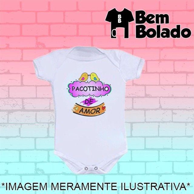 Body Sou o pacotinho de amor da mamãe Dia das mães - Foto 2