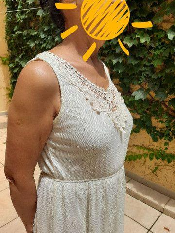 Vestido marfim de renda  - Foto 4