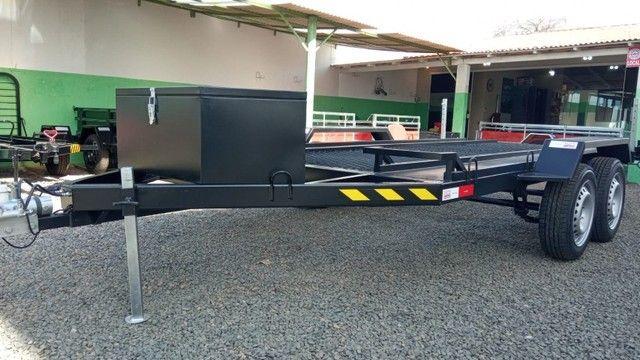 Carreta UTV/Quadriciclo/Veic leves 4,00 x 1,85m - Reboque Zero KM - / Polaris / Fourtrax  - Foto 4