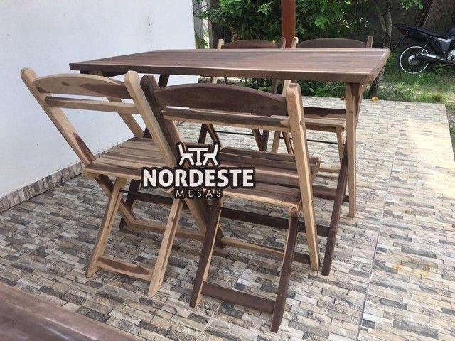 Mesa e cadeira desmontável madeira  - Foto 2