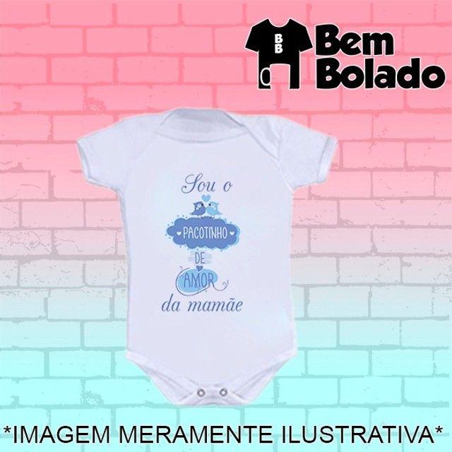 Body Sou o pacotinho de amor da mamãe Dia das mães - Foto 3
