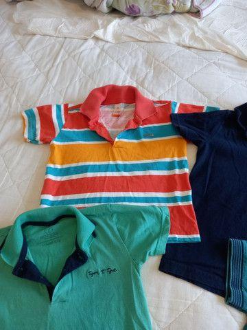 Camisas Polo Menino - Tamanho 4 - Foto 4