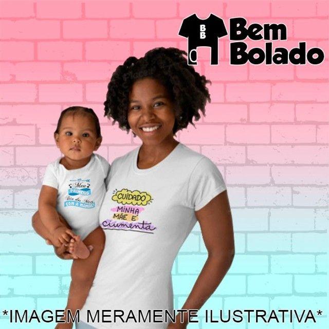 Conjunto Primeiro Dia das Mães body + camiseta - Foto 4