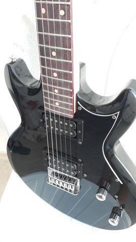 Guitarra ibanez gax 30 regulada com trastes novos - Foto 4