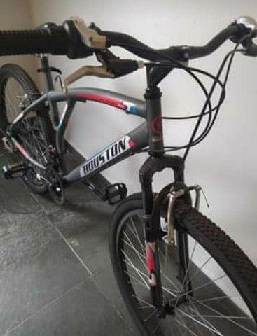 Bicicleta Aro 26 Houston Atlantismad com 21 Marchas ? Cinza - Foto 3
