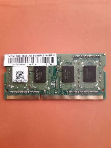 Memória RAM de Notebook DDR3 2GB ADATA - Foto 2