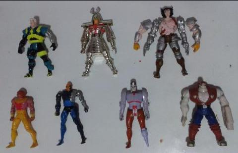 7 Bonecos do X-men (marvel universe action figures 1993-1994)