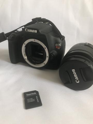 Câmera Canon T5 super conservada e na garantia