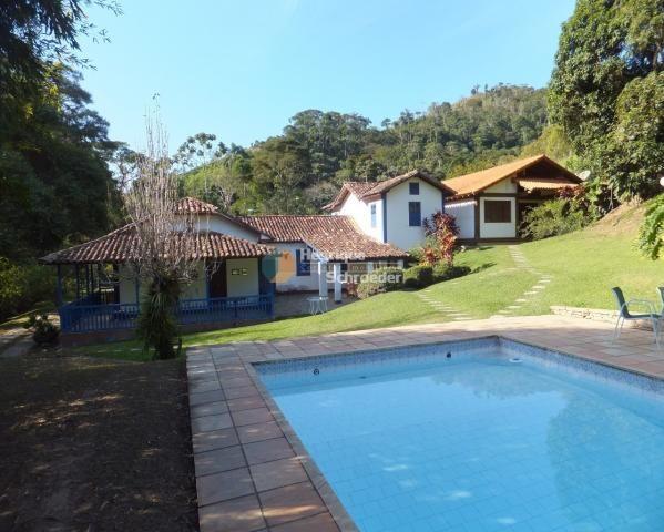 Sítio-haras c/ 9 casas, riacho, lago, piscina, futebol, sauna, br116 - próximo a teresópol - Foto 3