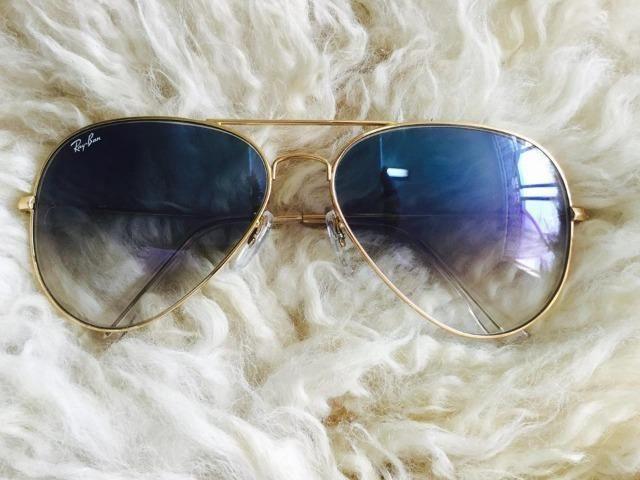 2607957dc Óculos de Sol Ray Ban Aviador Azul Degradê 3025/3026 Unissex Novo - Foto 5