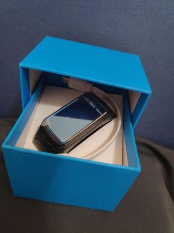 Smartwatch Fone e Relógio monitor cardíaco calorias 2 em 1 - Foto 2